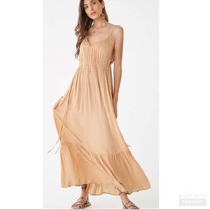 Forever 21 Shirred Self-tie Maxi Dress
